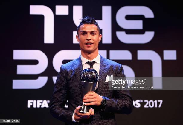 Cristiano Ronaldo pose for a photo during The Best FIFA Football Awards at The London Palladium on October 23 2017 in London England