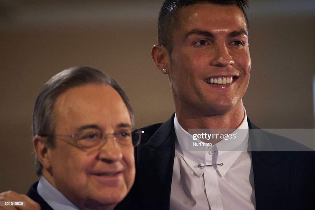 Cristiano Ronaldo Signs New Contract at Real Madrid : News Photo