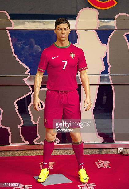 Cristiano Ronaldo wax figure unveiled at the Museo de Cera on December 7 2013 in Madrid Spain