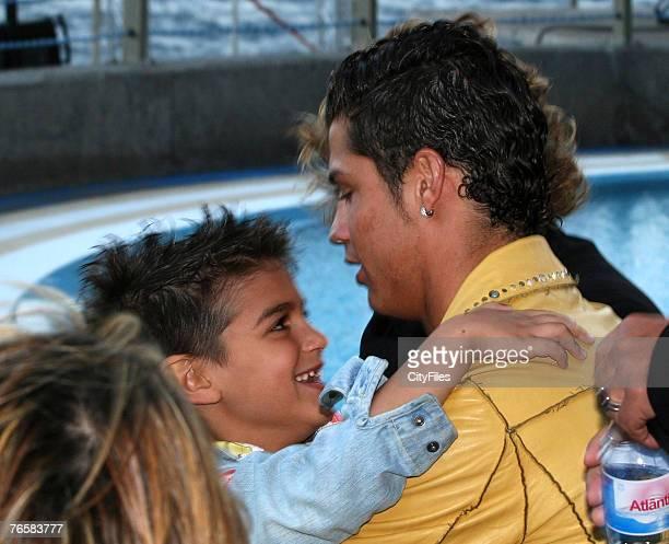 Cristiano Ronaldo with his cousin