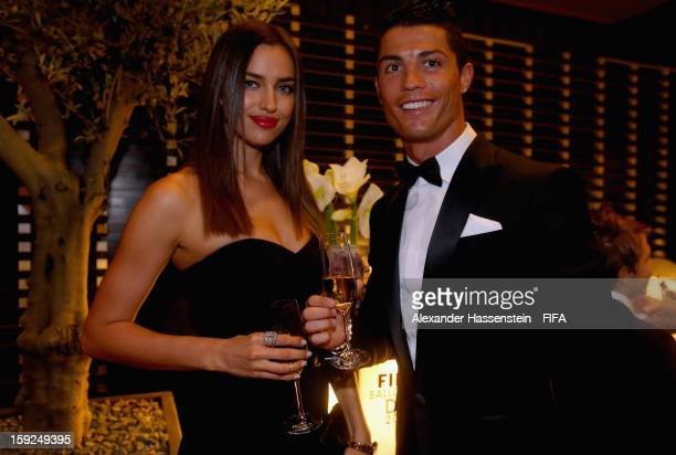 Cristiano Ronaldo with his girlfriend Irina Shayk at the FIFA Ballon d'Or Gala 2012 at the Kongresshaus on January 7 2013 in Zurich Switzerland