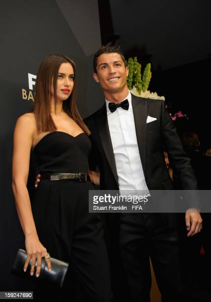 Cristiano Ronaldo with his girlfriend Irina Shayk during the red carpet arrivals at the FIFA Ballon d'Or Gala 2012 at the Kongresshaus on January 7...
