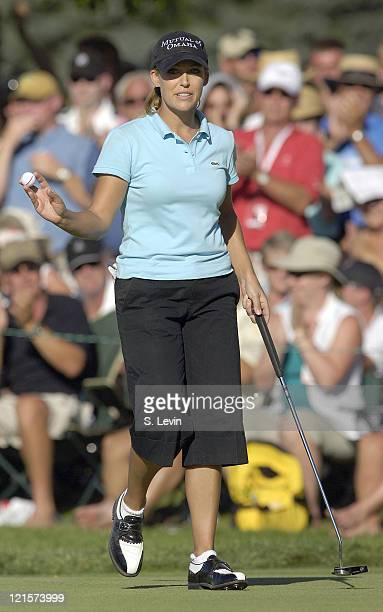 Cristie Kerr after her final putt of the Canadian Women's Open at the London Hunt and Country Club in London Ontario on August 13 2006