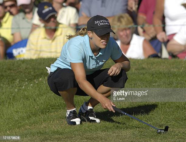Cristie Kerr during the final round of the Canadian Women's Open at the London Hunt and Country Club in London Ontario on August 13 2006