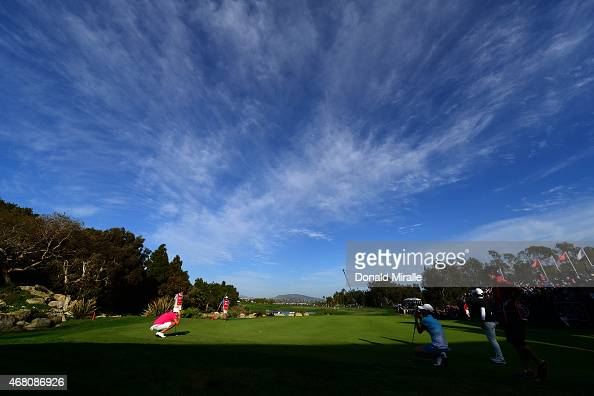 Cristie Kerr lines up her final putt en route to her 20 underpar victory during Final Round of the LPGA KIA Classic at the Aviara Golf Club on March...