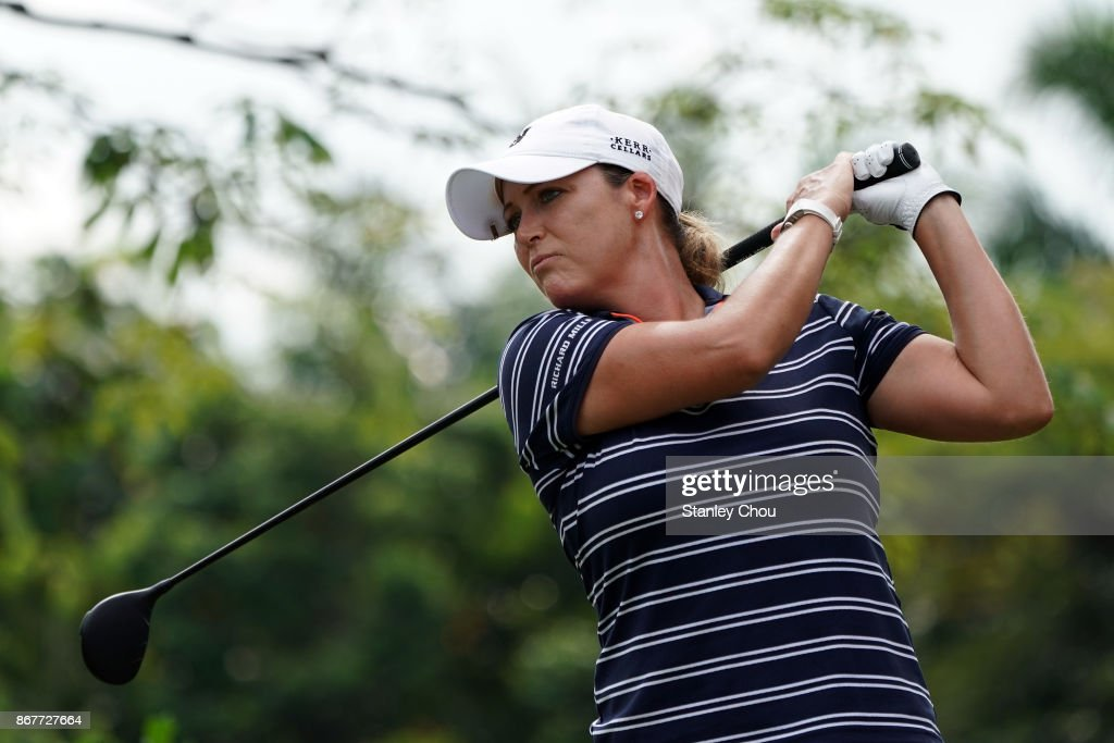 Cristie Kerr of the United States in action during day four of the Sime Darby LPGA Malaysia at TPC Kuala Lumpur East Course on October 29, 2017 in Kuala Lumpur, Malaysia.