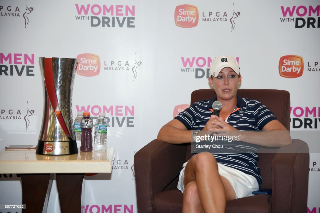 Cristie Kerr of the United States speaks to the press during the press conference during day four of the Sime Darby LPGA Malaysia at TPC Kuala Lumpur East Course on October 29, 2017 in Kuala Lumpur, Malaysia.