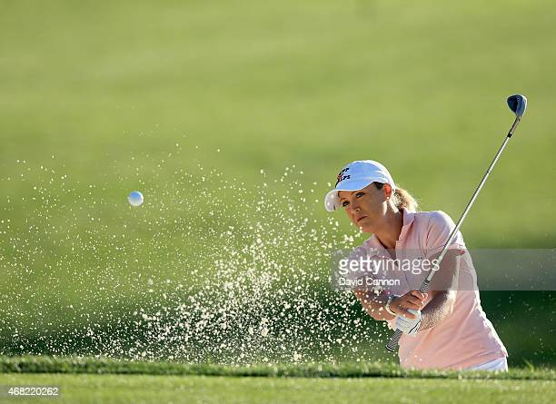Cristie Kerr of the USA during a practice round for the ANA Inspiration on the Dinah Shore Tournament Course at Mission Hills Country Club on March...