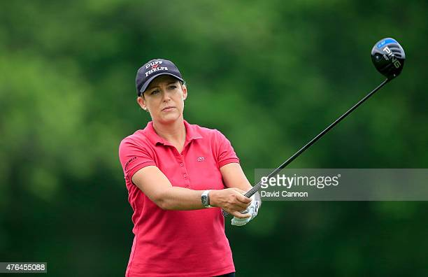 Cristie Kerr of the USA in action during the proam as a preview for the 2015 KPMG Women's PGA Championship on the West Course at Westchester Country...