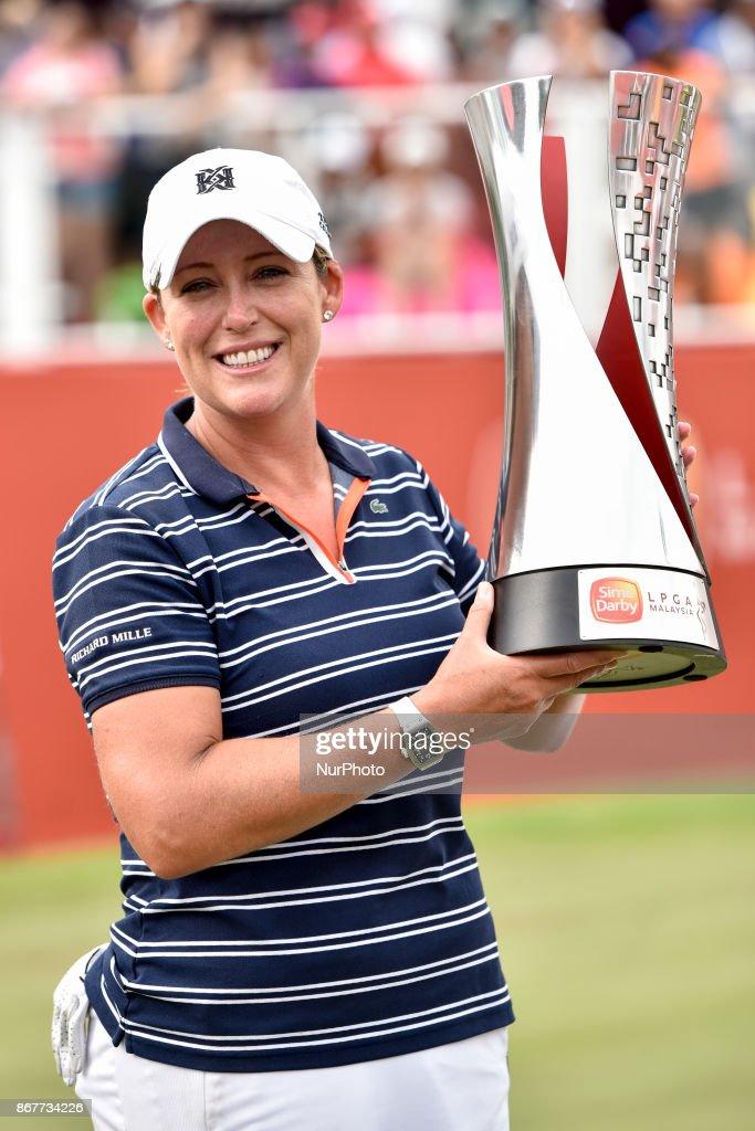 Cristie Kerr of USA wins the Sime Darby LPGA Malaysia at TPC Kuala Lumpur on October 29, 2017 in Malaysia.
