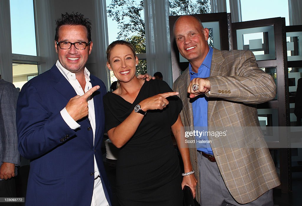 <a gi-track='captionPersonalityLinkClicked' href=/galleries/search?phrase=Cristie+Kerr&family=editorial&specificpeople=213495 ng-click='$event.stopPropagation()'>Cristie Kerr</a> (C) poses with <a gi-track='captionPersonalityLinkClicked' href=/galleries/search?phrase=Francois-Henry+Bennahmias&family=editorial&specificpeople=2357916 ng-click='$event.stopPropagation()'>Francois-Henry Bennahmias</a>, President of Audemars Piguet NA, (L) and NHL great <a gi-track='captionPersonalityLinkClicked' href=/galleries/search?phrase=Ken+Daneyko&family=editorial&specificpeople=209405 ng-click='$event.stopPropagation()'>Ken Daneyko</a> (R) after the Birdies for Breast Cancer Foundation Liberty Cup at Liberty National Golf Club on August 30, 2011 in Jersey City, New Jersey.