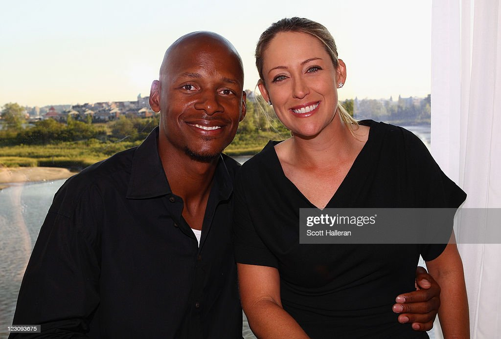 <a gi-track='captionPersonalityLinkClicked' href=/galleries/search?phrase=Cristie+Kerr&family=editorial&specificpeople=213495 ng-click='$event.stopPropagation()'>Cristie Kerr</a> (R) poses with Ray Alleen after the Birdies for Breast Cancer Foundation Liberty Cup at Liberty National Golf Club on August 30, 2011 in Jersey City, New Jersey.