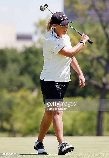 Cristie Kerr reacts to a missed putt on the ninth hole during the Final Round of the 2015 Volunteers of America North Texas Shootout Presented by...