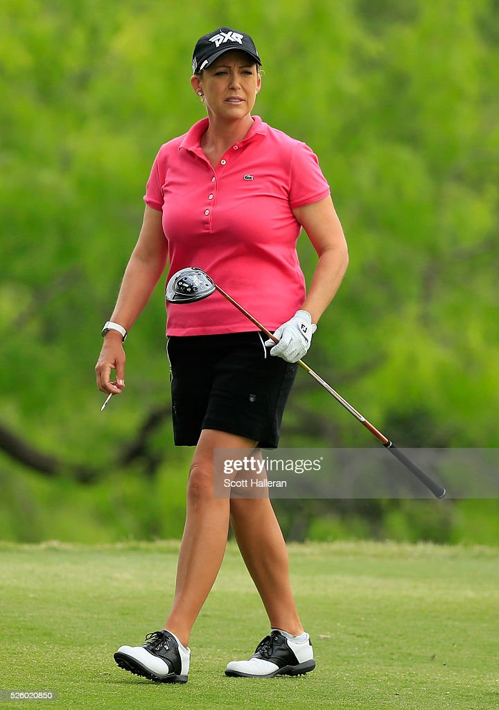 <a gi-track='captionPersonalityLinkClicked' href=/galleries/search?phrase=Cristie+Kerr&family=editorial&specificpeople=213495 ng-click='$event.stopPropagation()'>Cristie Kerr</a> watches her tee shot on the third hole during the second round of the Volunteers of America Texas Shootout at Las Colinas Country Club on April 29, 2016 in Irving, Texas.