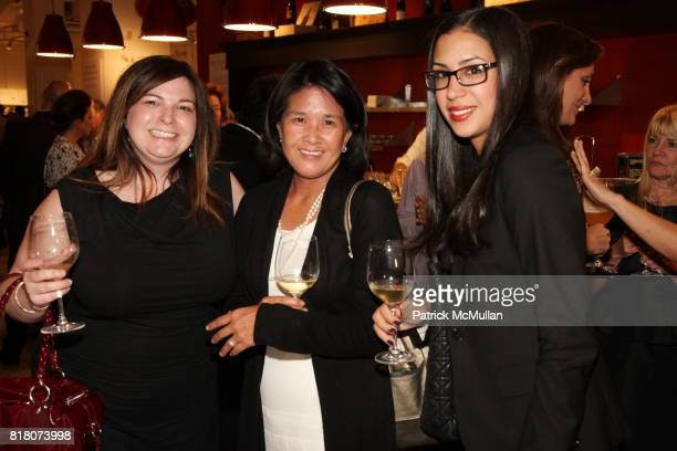 Cristie Mather Susan Copeland and Arriana Marion attend Epicurious 15th Anniversary Dinner at Eataly on September 29 2010 in New York