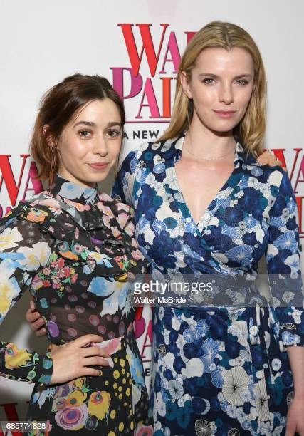 Cristin Milioti and Betty Gilpin attend the Broadway Opening Night Performance of 'War Paint' at the Nederlander Theatre on April 6 2017 in New York...