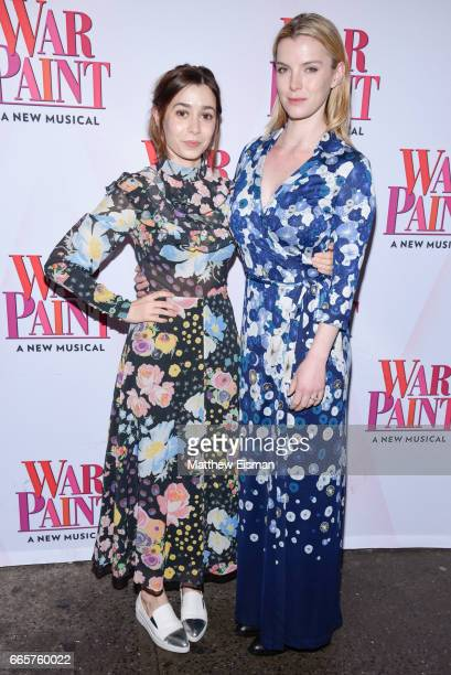 Cristin Milioti and Betty Gilpin attend 'War Paint' Broadway opening night arrivals at Nederlander Theatre on April 6 2017 in New York City
