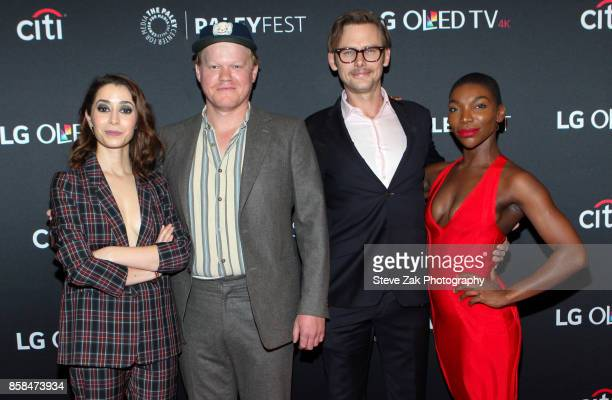 Cristin Milioti Jesse Plemons Jimmi Simpson and Michaela Coel attend PaleyFest NY 2017 'Black Mirror' at The Paley Center for Media on October 6 2017...