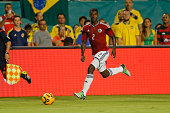 Cristián Zapata of Columbia brings the ball upfield against Brazil during a friendly match on September 5 2014 at Sun Life Stadium Stadium in Miami...