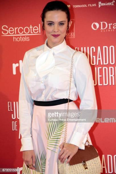 Cristina Abad attend the 'El Jugador de Ajedrez' premiere at Gran Via cinema on April 25 2017 in Madrid Spain