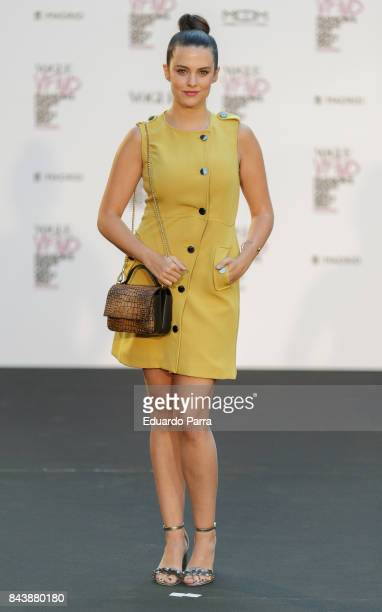 Cristina Abad attends the 'Vogue fashion's Night Out' photocall at Ortega y Gasset street on September 7 2017 in Madrid Spain