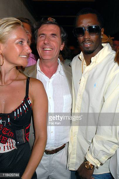 Cristina Bernard Menez and Sean Diddy Combs during Sean Diddy Combs Unforgivable Party at The Papagayo Club at The Papagayo Club in Saint Tropez...