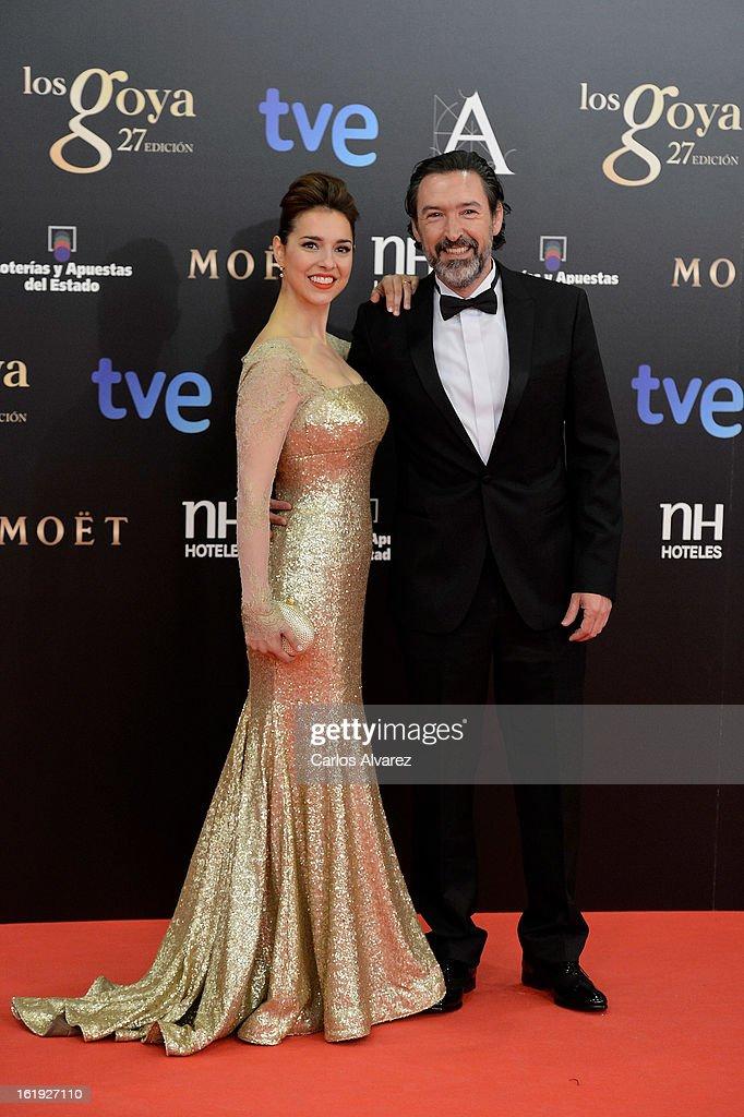 Cristina Brondo and Gines Garcia Guillen attends Goya Cinema Awards 2013 at Centro de Congresos Principe Felipe on February 17, 2013 in Madrid, Spain.