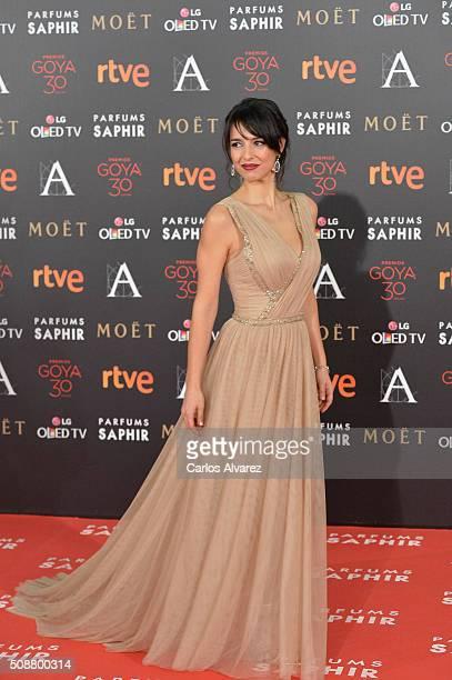 Cristina Brondo attends Goya Cinema Awards 2016 at Madrid Marriott Auditorium on February 6 2016 in Madrid Spain
