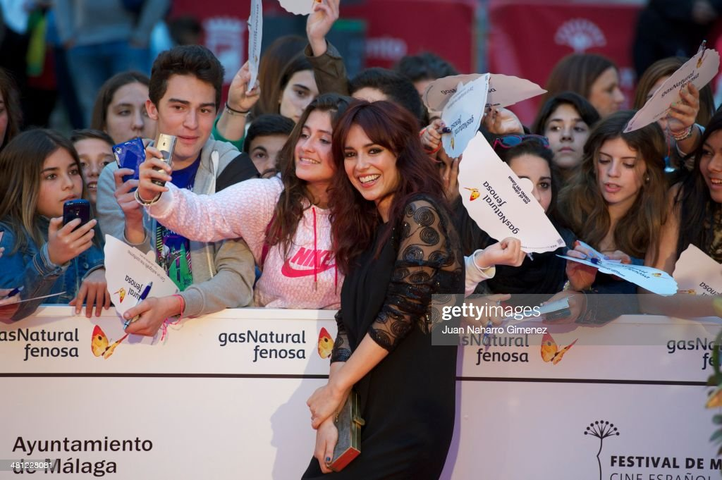 Cristina Brondo attends 'La Vida Inesperada' premiere during the 17th Malaga Film Festival 2014 at Teatro Cervantes on March 28, 2014 in Malaga, Spain.