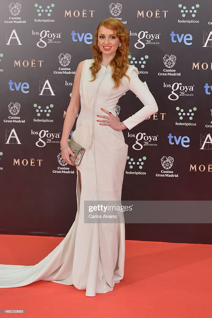 Cristina Castano attends Goya Cinema Awards 2014 at Centro de Congresos Principe Felipe on February 9, 2014 in Madrid, Spain.