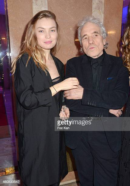 Cristina Chiriac and Best 2014 awarded director Abel Ferrara attend 'The Best' Awards 2014 Ceremony At Salons Hoche on December 15 2014 in Paris...