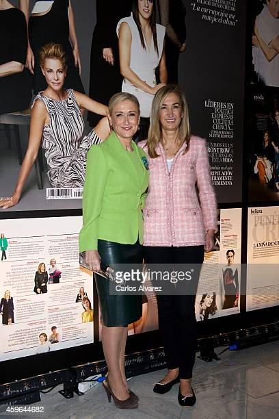 Cristina Cifuentes and Marta Michel attend 'Yo Dona' Magazine party at the Stock Exchange building on November 27 2014 in Madrid Spain
