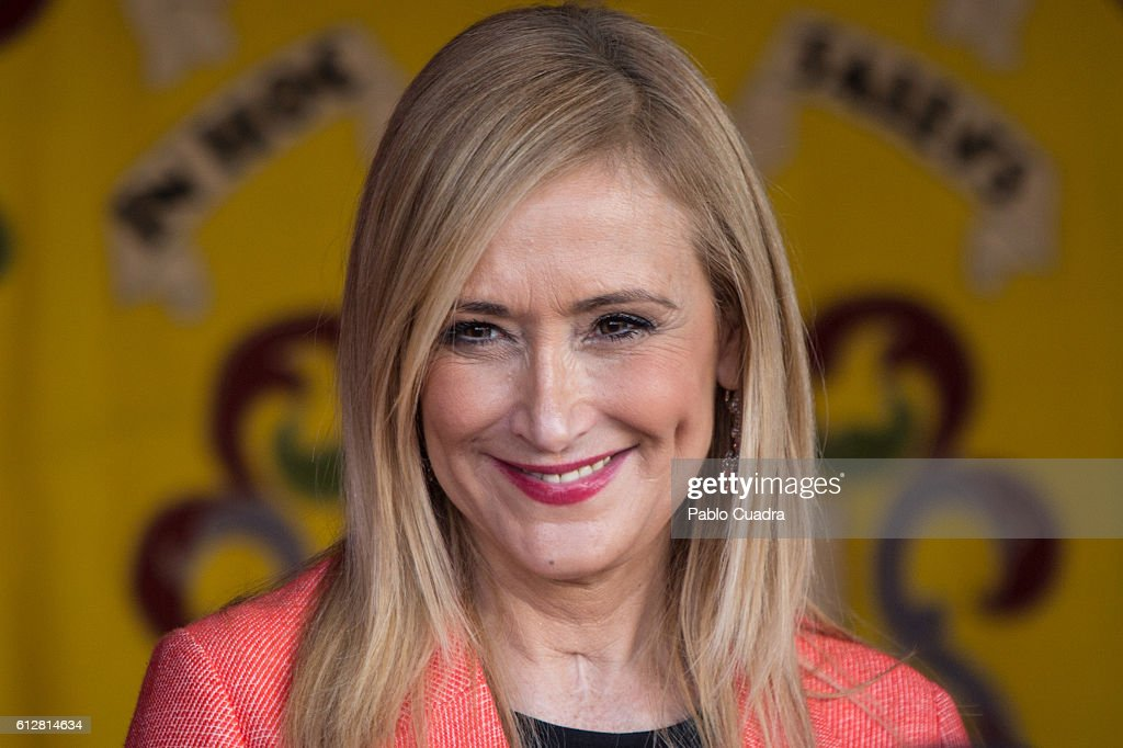 Cristina Cifuentes attends the Red Cross Fundraising day event (Dia de la Banderita) on October 5, 2016 in Madrid, Spain.
