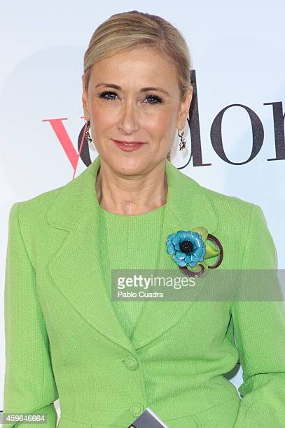 Cristina Cifuentes attends 'YO DONA' magazine event at the Stock Exchange building on November 27 2014 in Madrid Spain