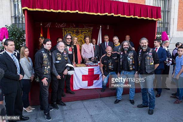 Cristina Cifuentes and Queen Sofia attend the Red Cross Fundraising day event on October 5 2016 in Madrid Spain
