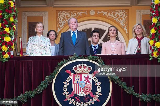 Cristina Cifuentes Victoria Federica de Marichalar y Borbon King Juan Carlos Felipe Juan Froilan de Marichalar y Borbon Princess Elena de Borbon and...