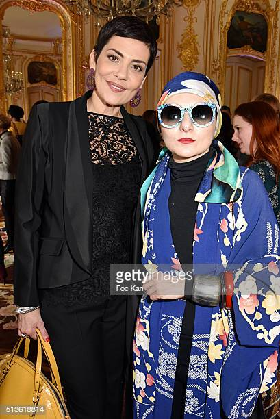 Cristina Cordula and Catherine Baba attend the 'International Women's Day Luncheon in Support of Equality and Safety for All' Photo Call PFW...