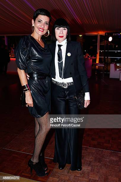 Cristina Cordula and Chantal Thomass attend the Kenzo Takada's 50 Years Of Life in Paris Celebration at Restaurant Le Pre Catelan on September 17...