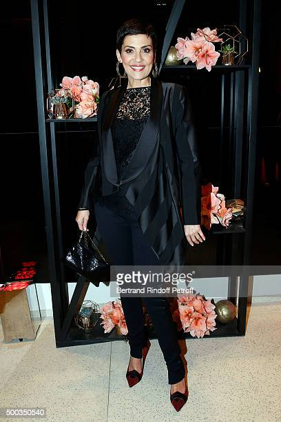 Cristina Cordula attend the Charity Dinner 'LINK for AIDES' during the 'Art is Hope' Exhibition at Place Vendome on December 7 2015 in Paris France