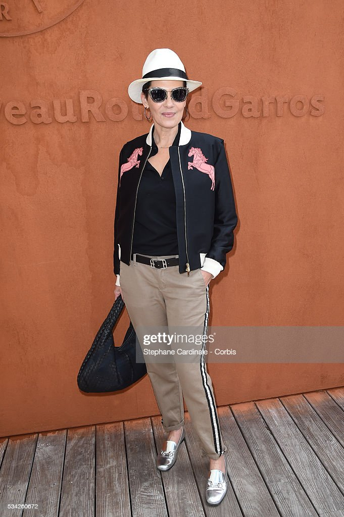 Cristina Cordula attends day four of the 2016 French Open at Roland Garros on May 25, 2016 in Paris, France.
