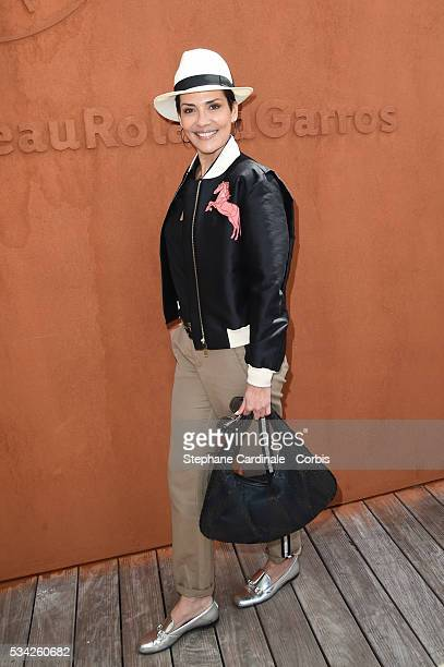Cristina Cordula attends day four of the 2016 French Open at Roland Garros on May 25 2016 in Paris France