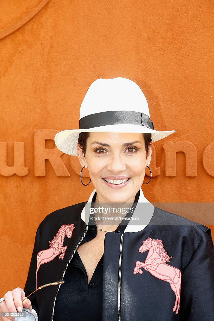 Cristina Cordula attends day four of the French Tennis Open at Roland Garros on May 25, 2016 in Paris, France.