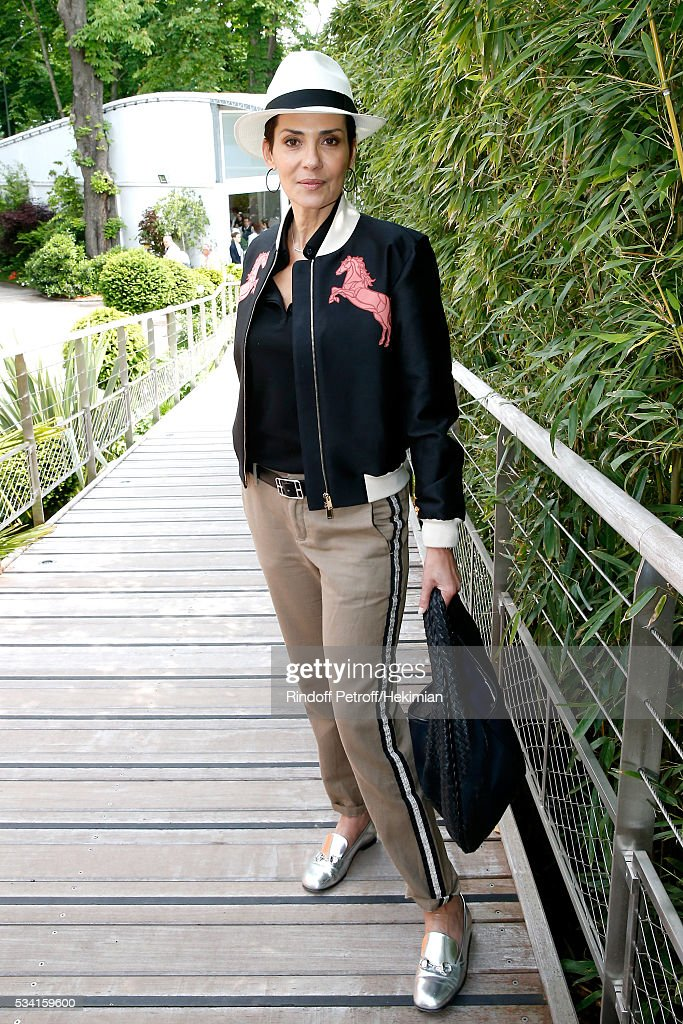 Cristina Cordula attends the 2016 French Tennis Open - Day Four at Roland Garros on May 25, 2016 in Paris, France.