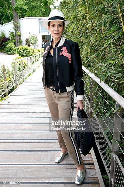 Cristina Cordula attends the 2016 French Tennis Open Day Four at Roland Garros on May 25 2016 in Paris France