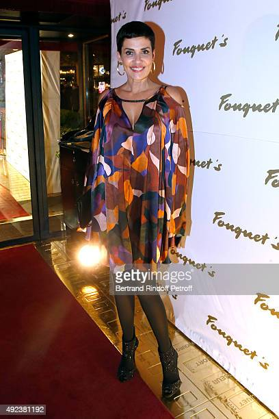Cristina Cordula attends the Fouquet's Paris Restaurant presents its Menu 'Twisted' by the Chef Pierre Gagnaire Held at Le Fouquet's on October 12...