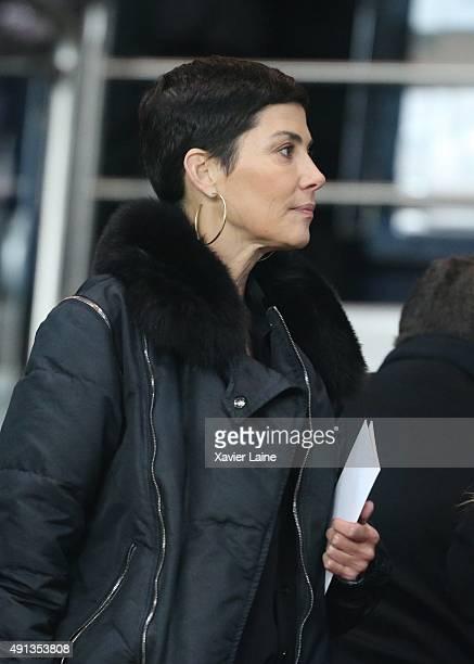 Cristina Cordula attends the French Ligue 1 between Paris SaintGermain and Olympique de Marseille at Parc Des Princes on October 4 2015 in Paris...
