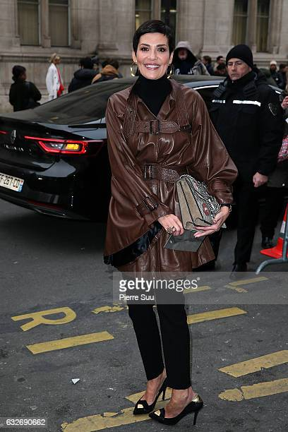 Cristina Cordula attends the Jean Paul Gaultier Haute Couture Spring Summer 2017 show as part of Paris Fashion Week on January 25 2017 in Paris France