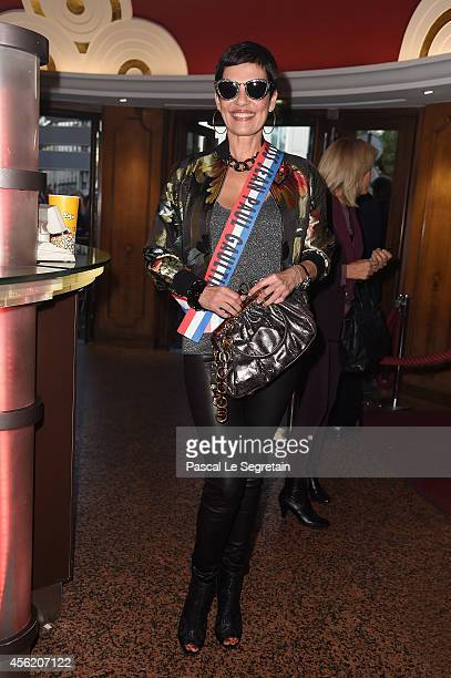 Cristina Cordula attends the Jean Paul Gaultier show as part of the Paris Fashion Week Womenswear Spring/Summer 2015 on September 27 2014 in Paris...