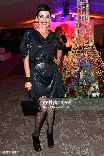 Cristina Cordula attends the Kenzo Takada's 50 Years Of Life in Paris Celebration at Restaurant Le Pre Catelan on September 17 2015 in Paris France
