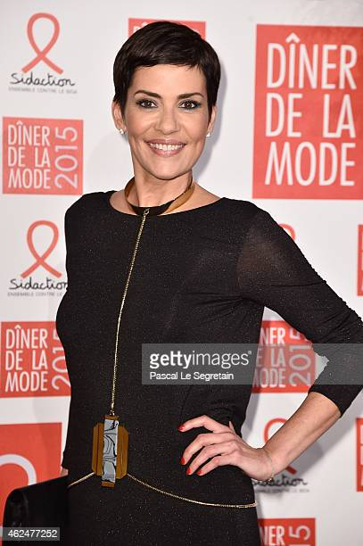 Cristina Cordula attends the Sidaction Gala Dinner 2015 at Pavillon d'Armenonville on January 29 2015 in Paris France